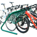 BIG MULTI-BICYCLES OUTDOOR PARKING